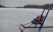 Ice skating and kicksledding