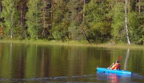 Canoeing or kayaking