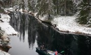 canoeing with snow