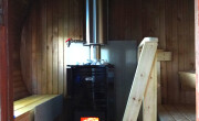 wood heated sauna