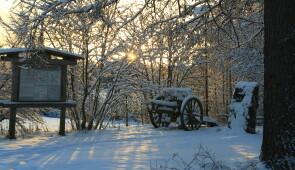 """Rukajärventie"" Historical road from the World War II"